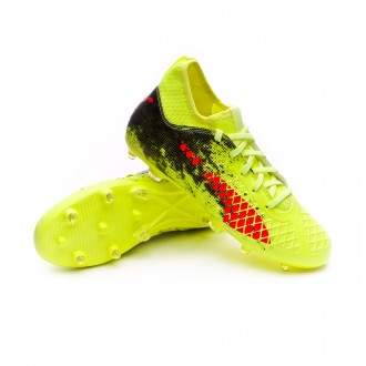 Bota  Puma Future 18.3 FG Niño Fizzy Yellow-Red Blast-Puma Black