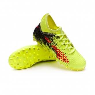 Boot  Puma Future 18.3 MG Niño Fizzy Yellow-Red Blast-Puma Black