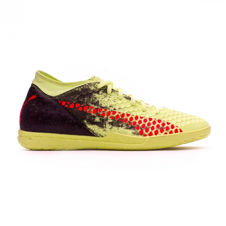 Futsal Boot Puma Kids Future 18.4 IT Fizzy Yellow-Red Blast-Puma ... bdbf213db8