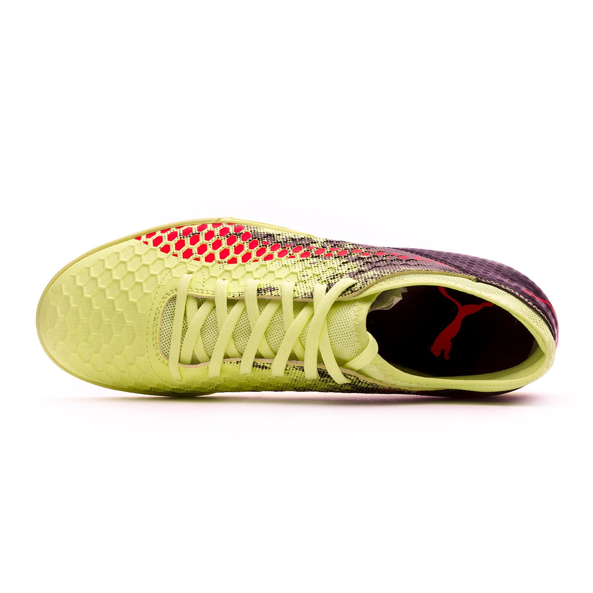 Futsal Boot Puma Kids Future 18.4 IT Fizzy Yellow-Red Blast-Puma Black -  Leaked soccer 91bfb4d534