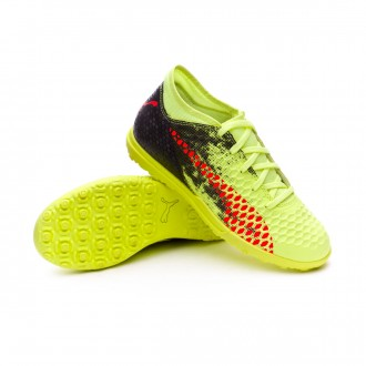 Zapatilla  Puma Future 18.4 Turf Niño Fizzy Yellow-Red Blast-Puma Black