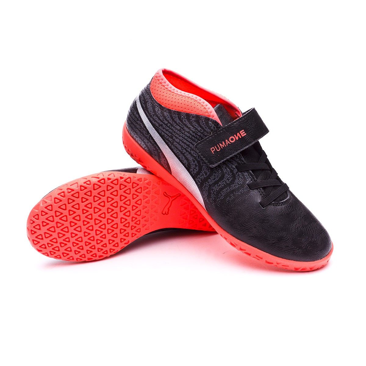 2a8930c505f81 Zapatilla Puma One 18.4 IT V Niño Puma Black-Puma Silver-Red Blast - Tienda  de fútbol Fútbol Emotion