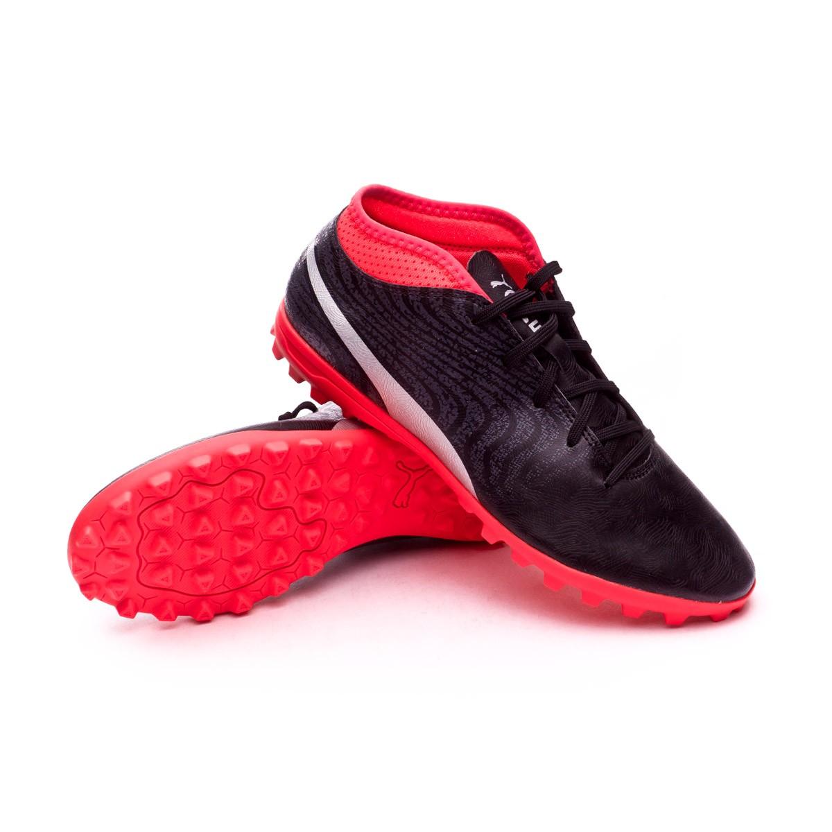 7f1ba2b6ce8 Futsal Boot Puma Kids One 18.4 TT Puma Black-Puma Silver-Red Blast ...