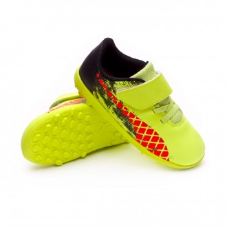 Boot  Puma Future 18.4 Turf Velcro Bebe Fizzy Yellow-Red Blast-Puma Black