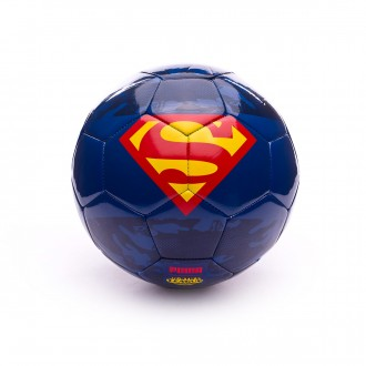 Bola de Futebol  Puma Superhero Lite 350 Blue Depths-High Risk Red-Dandelion-SUPERMAN
