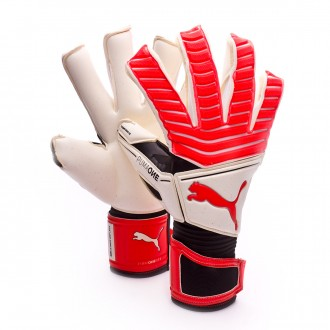 Glove  Puma One Grip 17.1 Puma White-Red Blast-Puma Black-Silver