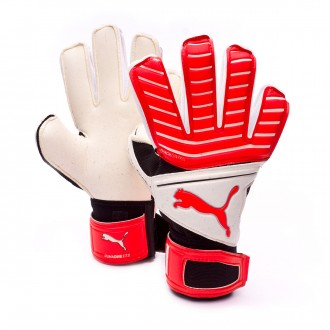 Glove  Puma One Grip 17.2 RC Niño Puma White-Red Blast-Puma Black-Silver