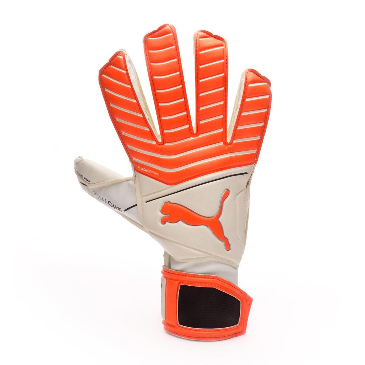 8f406de7a4d1 Glove Puma One Grip 17.3 RC Puma White-Red Blast-Puma Black-Silver -  Football store Fútbol Emotion