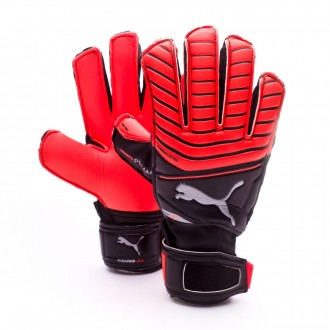 Glove  Puma Kids One Protect 18.3  Red Blast-Puma Black-Silver