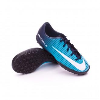 Zapatilla  Nike MercurialX Vapor XI Turf Niño Obsidian-Gamma blue