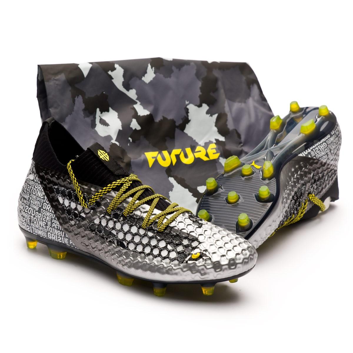 f1cd6dbb5f7b Boot Puma Future 18.1 Netfit Grizi FG Puma Black-Puma Silver-Vibrant ...