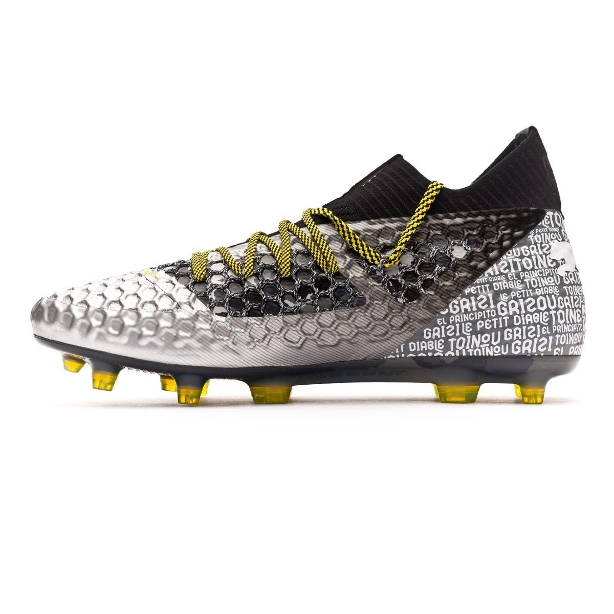 d0320d5555e Boot Puma Future 18.1 Netfit Grizi FG Puma Black-Puma Silver-Vibrant Yellow  - Football store Fútbol Emotion