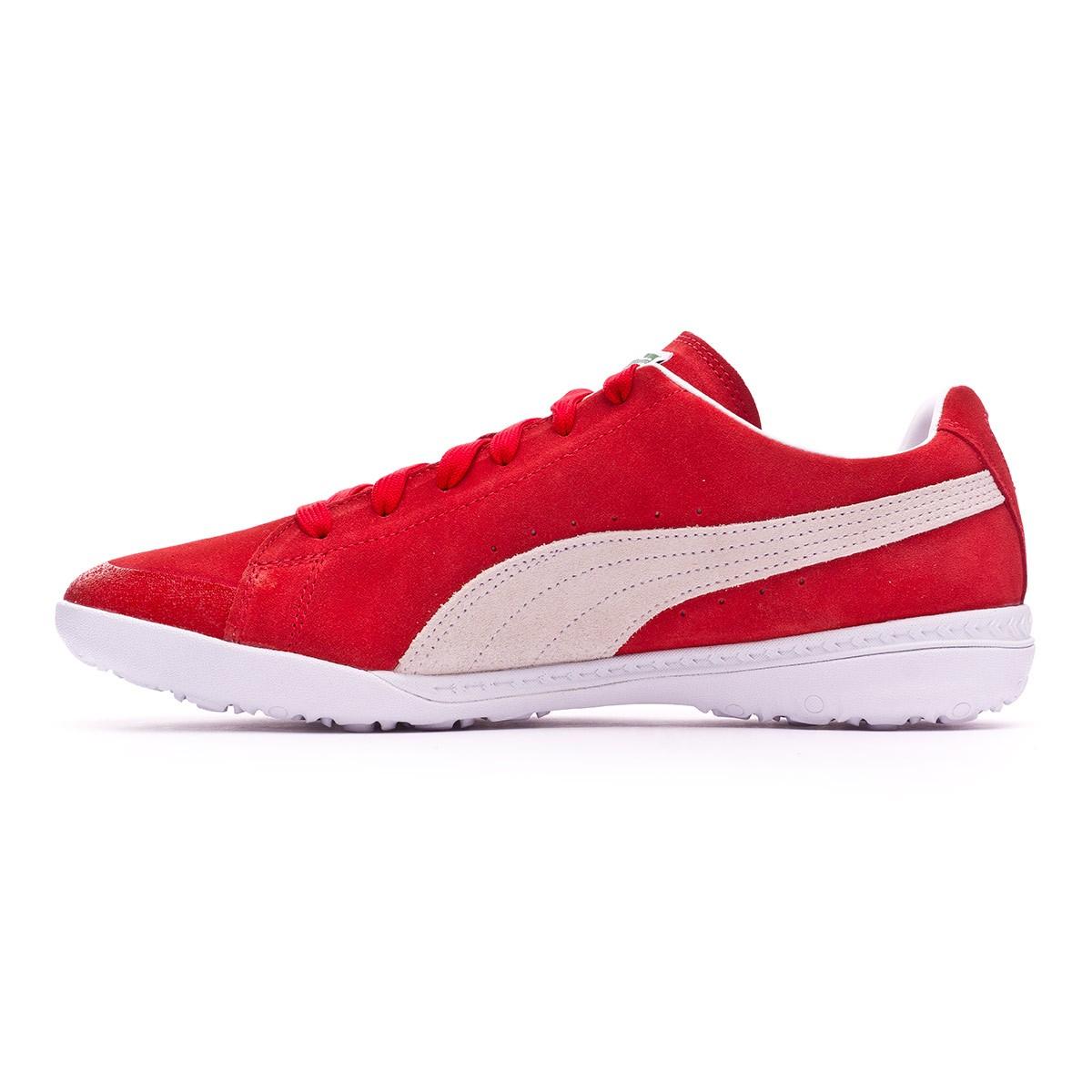 Puma FUTURE SUEDE 50 TT - Indoor football boots - red /white J8plI