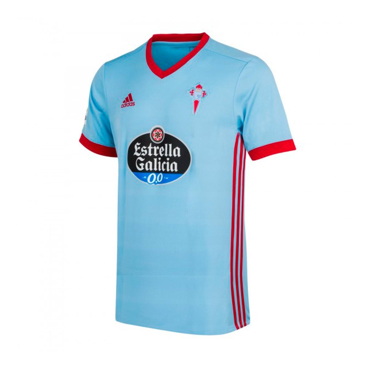 ... Camiseta Celta de Vigo Primera Equipación 2017-2018 Niño Clear  blue-Power red-. CATEGORY 4ed13ae625d98