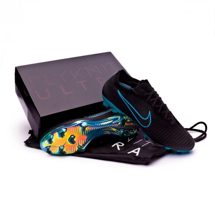 fd337a84da5e Football Boots Nike Mercurial Vapor Flyknit Ultra FG Black-Gamma ...