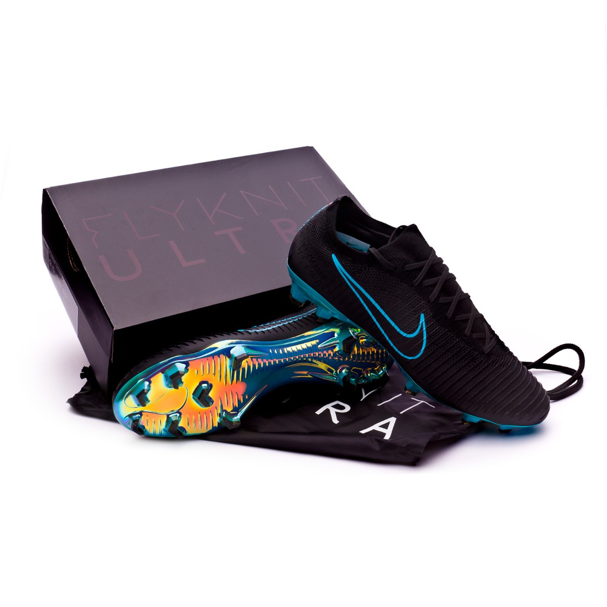 5c89afa7c Football Boots Nike Mercurial Vapor Flyknit Ultra FG Black-Gamma blue - Football  store Fútbol Emotion