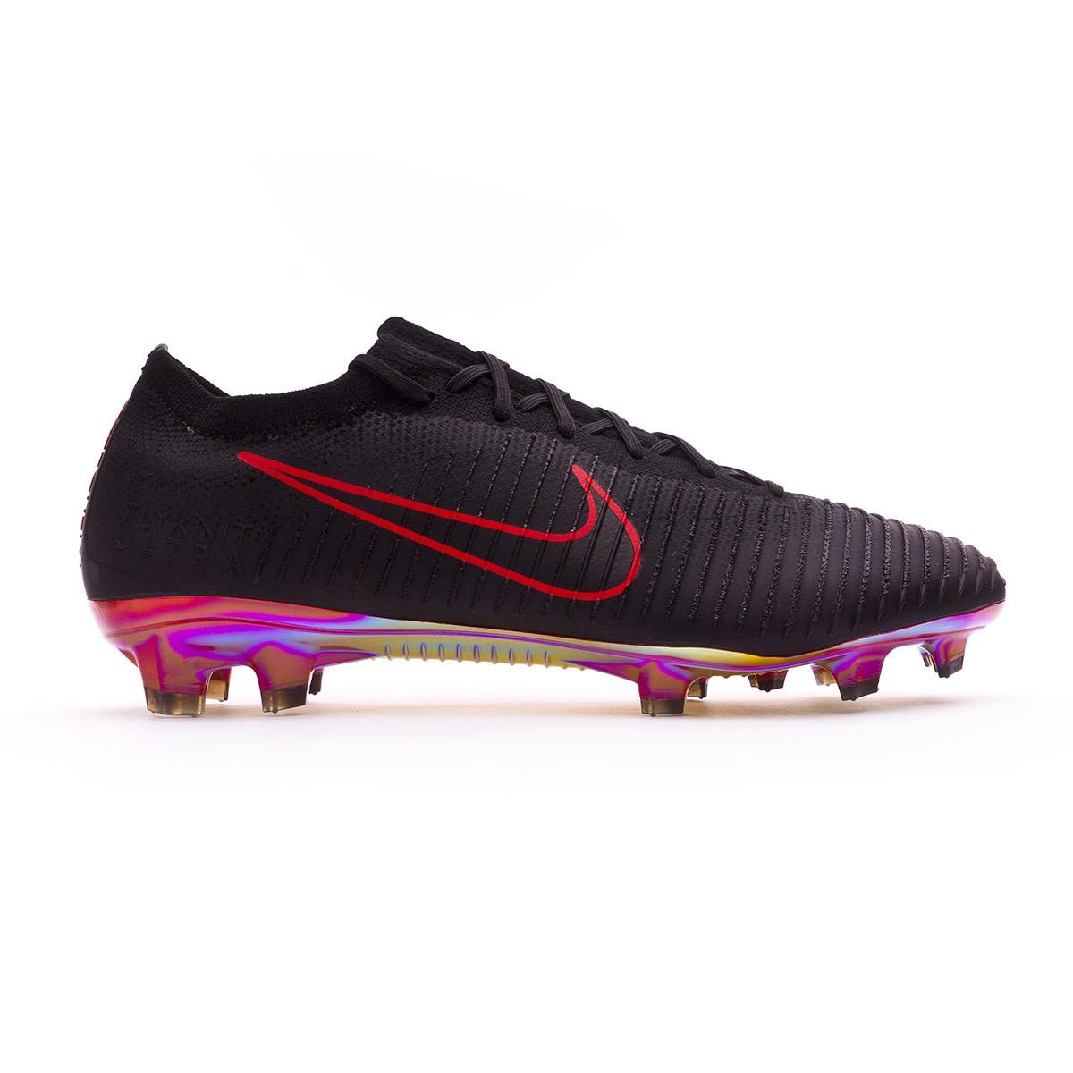 5f43e5d5e72f Football Boots Nike Mercurial Vapor Flyknit Ultra FG Black-University red -  Tienda de fútbol Fútbol Emotion