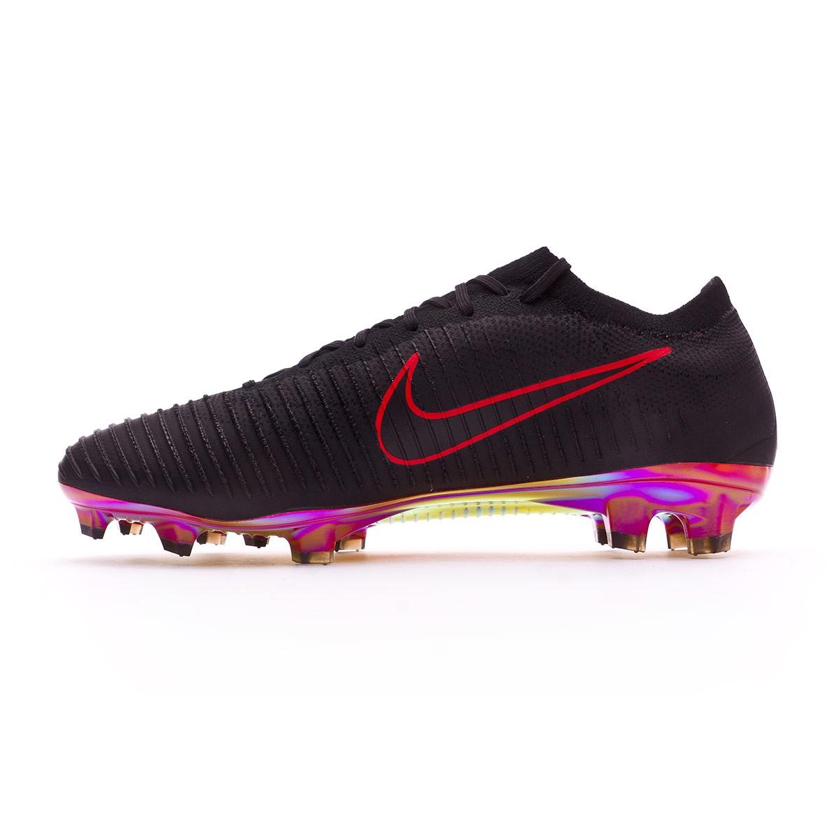 Boot Nike Mercurial Vapor Flyknit Ultra FG Black-University red - Football  store Fútbol Emotion 16ffc45b0