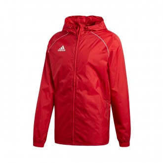 Raincoat  adidas Core 18 Power red-White