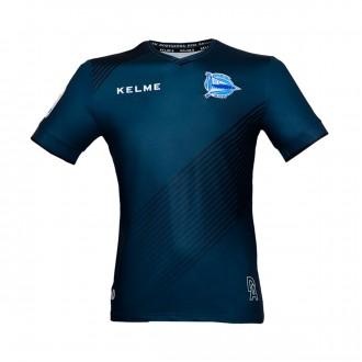 Camisola  Kelme Dep. Alavés Equipamento Principal GR 2017-2018 Preto