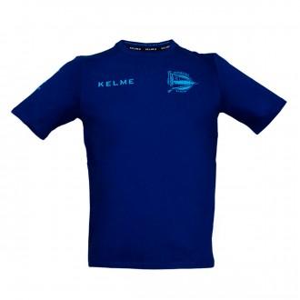 Camiseta  Kelme Dep. Alavés Paseo 2017-2018 Azul marino