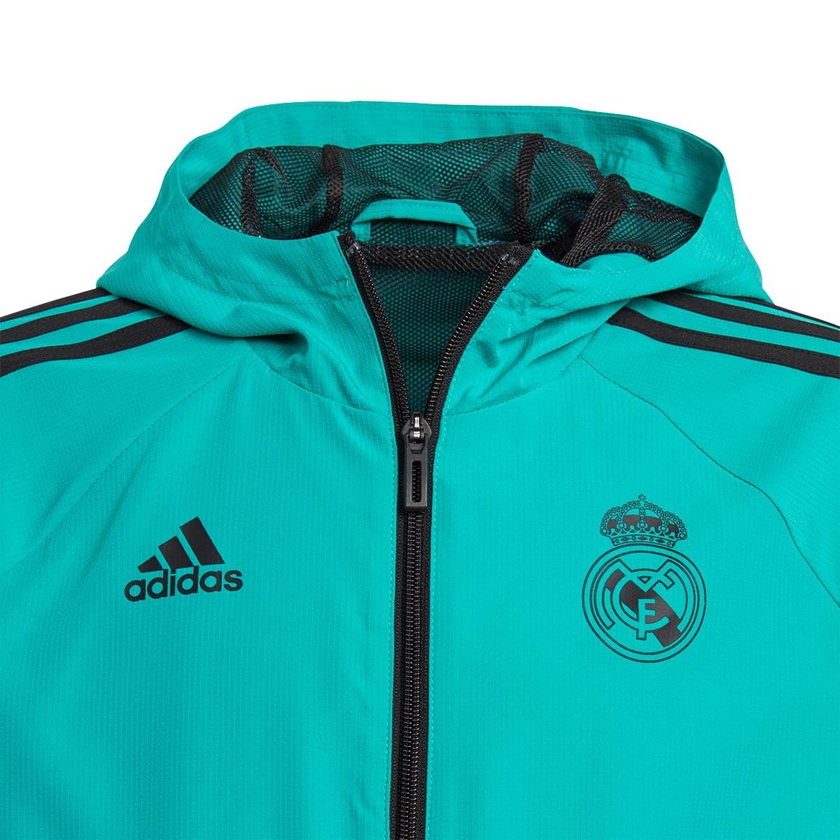 4e55dbad93f39 Jacket adidas Kids Pre Match Real Madrid 2017-2018 Aero green-Black -  Football store Fútbol Emotion