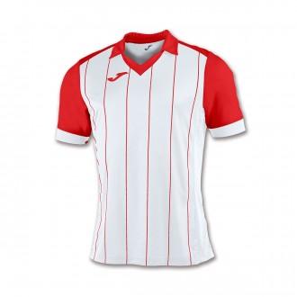 Camiseta  Joma Grada m/c Blanco-Rojo