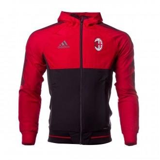 Chaqueta  adidas AC Milán Pre-Match 2017-2018 Victory red-Black