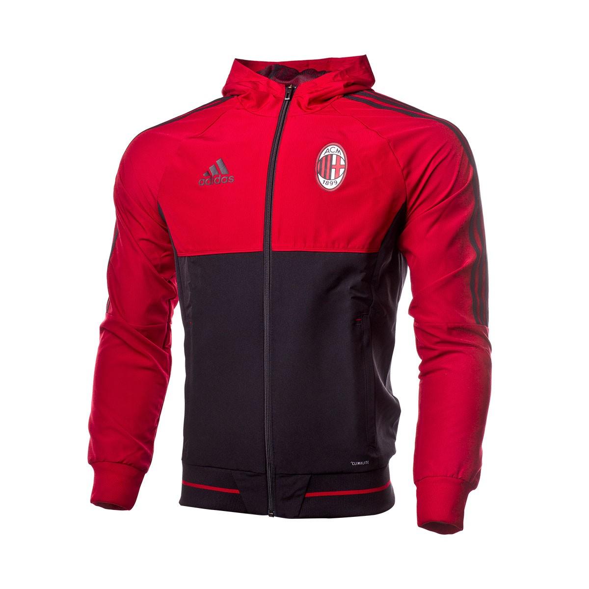 e739699953 Jacket adidas AC Milan Pre-Match 2017-2018 Victory red-Black ...
