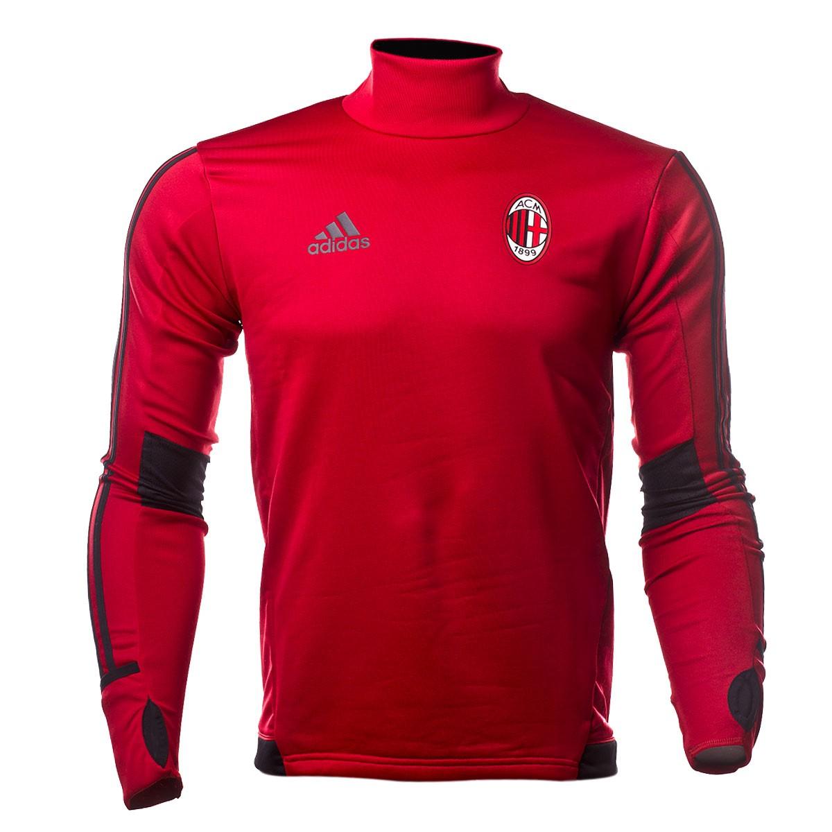 c229512b56 Sudadera adidas AC Milán Training Top 2017-2018 Victory red-Black -  Soloporteros es ahora Fútbol Emotion