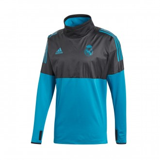 Sudadera  adidas Real Madrid CF Training UCL 2017-2018 Black-Vivid teal