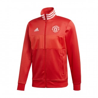 Chaqueta  adidas Manchester United FC 3S Top 2017-2018 Real red-Collegiate red