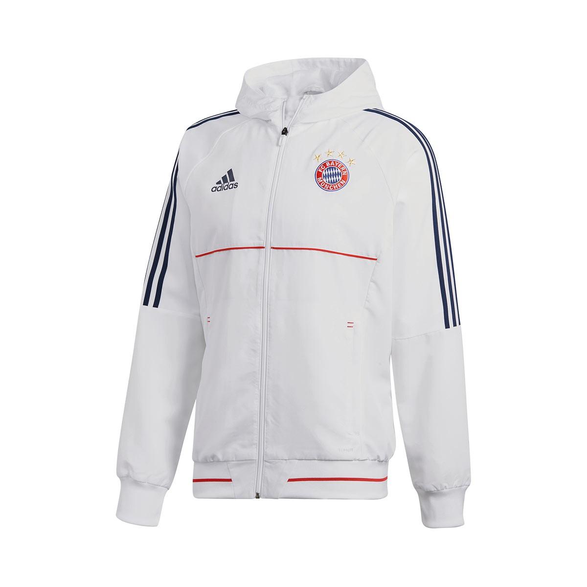 a946bd51087 Casaco adidas FC Bayern Munich Pre-Match 2017-2018 White-Collegiate navy -  Loja de futebol Fútbol Emotion