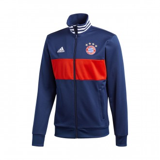 Chaqueta  adidas FC Bayern Munich 3S Top 2017-2018 Collegiate Navy-True red