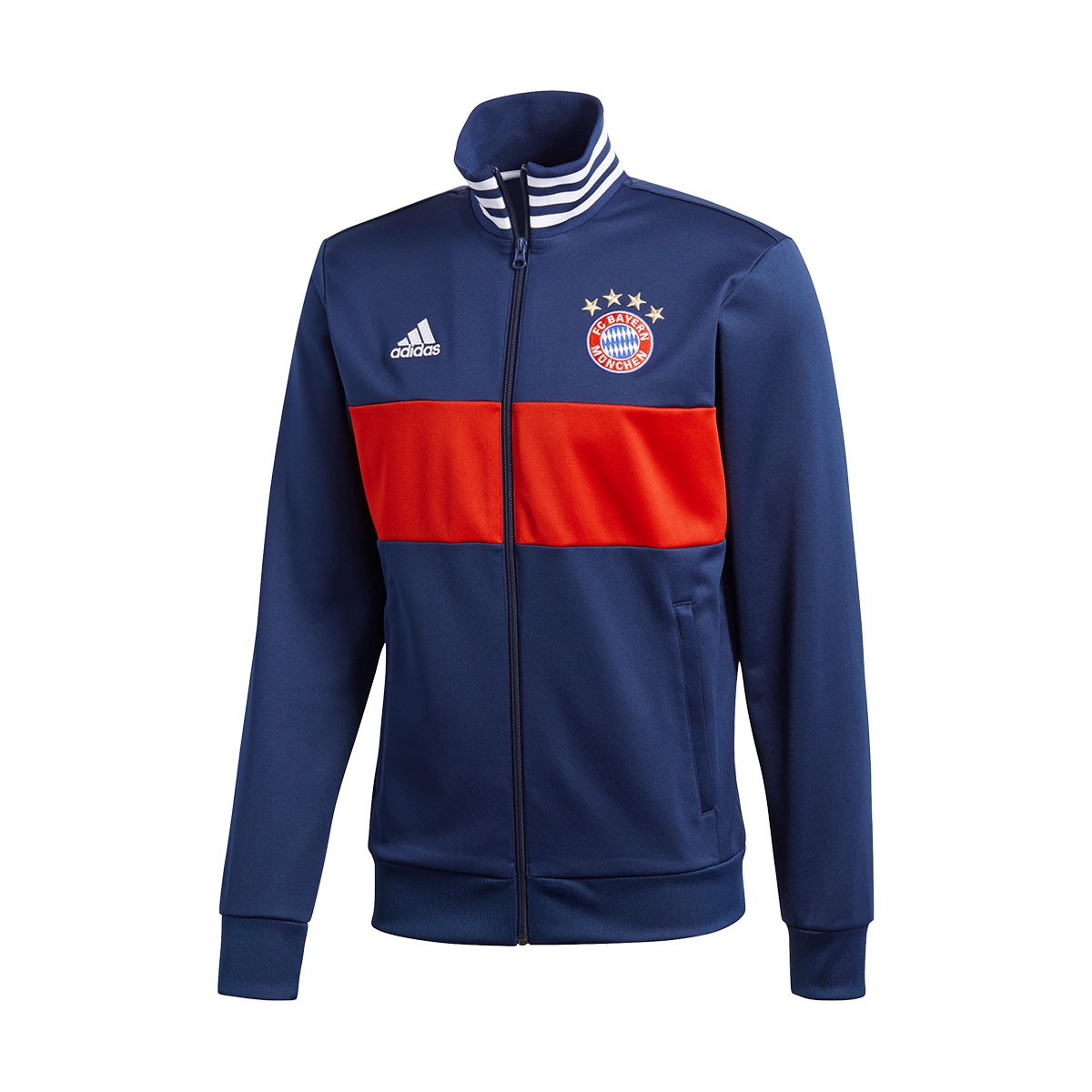 jacket adidas fc bayern munich 3s top 2017 2018 collegiate. Black Bedroom Furniture Sets. Home Design Ideas