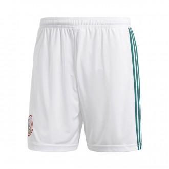 Pantalón corto  adidas Mexico Primera Equipación 2017-2018 White-Collegiate green