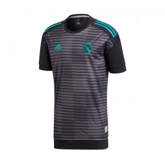 Camiseta  adidas Real Madrid Training 2017-2018 Black-Granite
