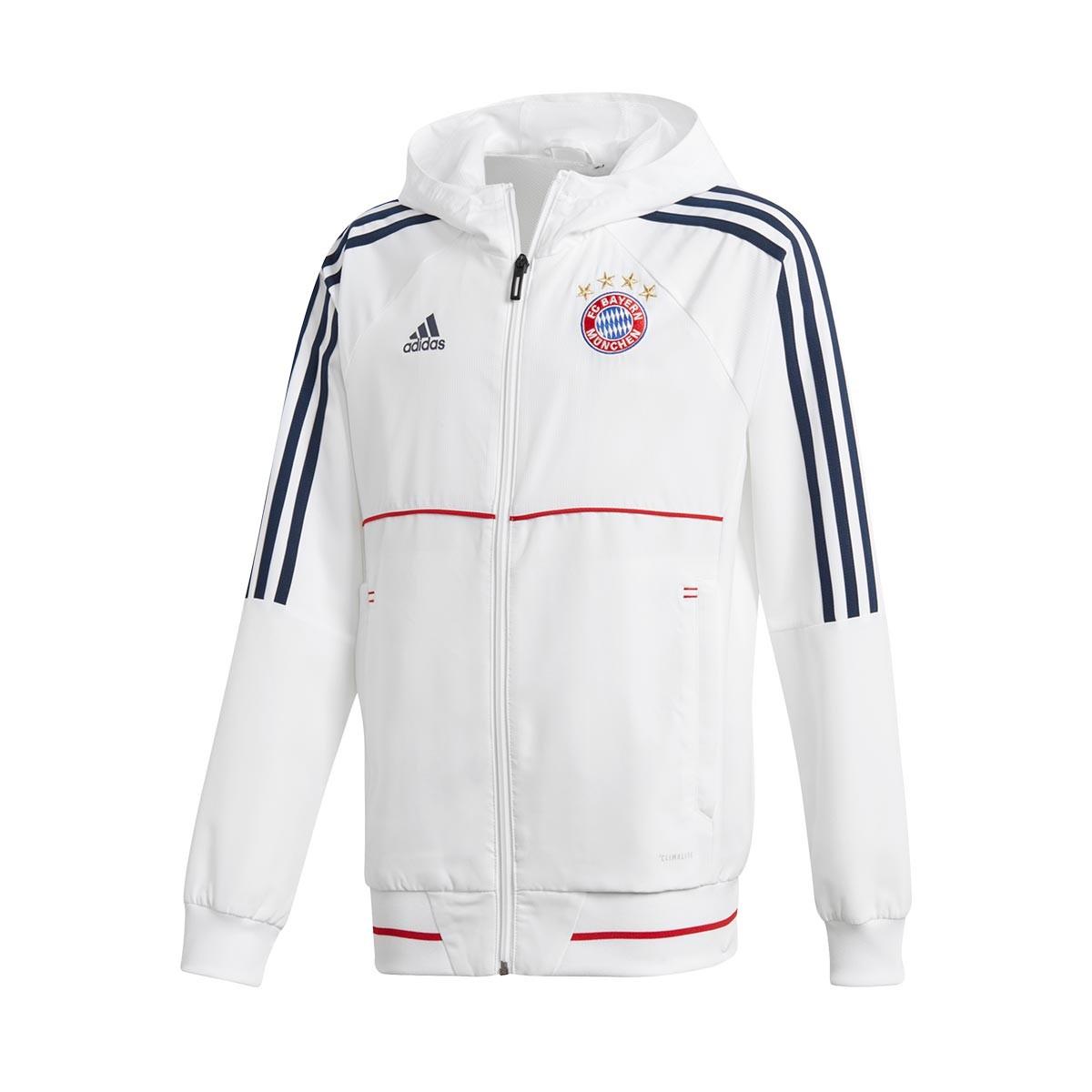 2017 2018 Bayern Pre White Fc Navy Collegiate Munich Match Chaqueta Niño rxBeCdo