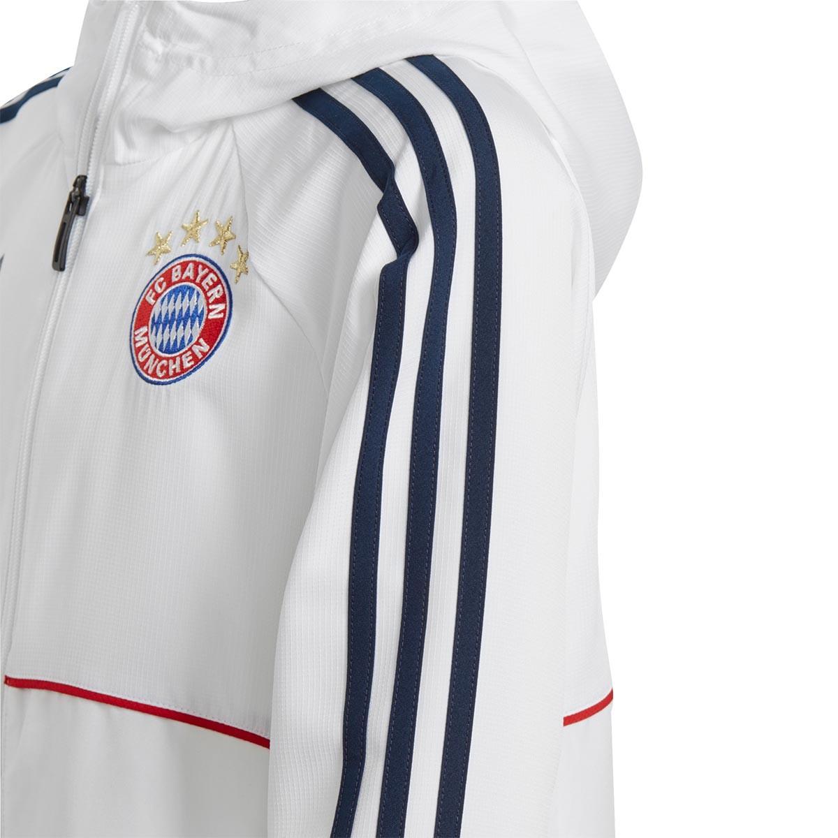 1afee03ceef90 Chamarra adidas FC Bayern Munich Pre-Match 2017-2018 Niño White-Collegiate  navy - Tienda de fútbol Fútbol Emotion