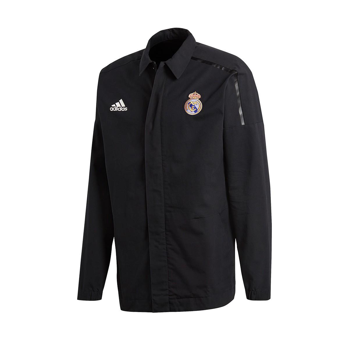 919808c1fec6b Jacket adidas Kids Real Madrid ZNE JKT WV 2017-2018 Black - Tienda ...