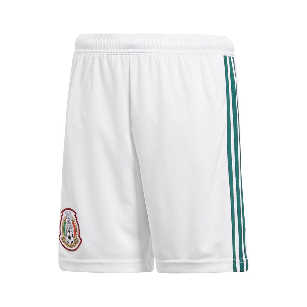 7b53868ec adidas Kids Mexico 2017-2018 Home Shorts. White-Collegiate green ...