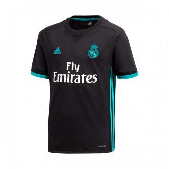 Camiseta  adidas Real Madrid Segunda Equipación 2017-2018 Niño Black-Aero reef