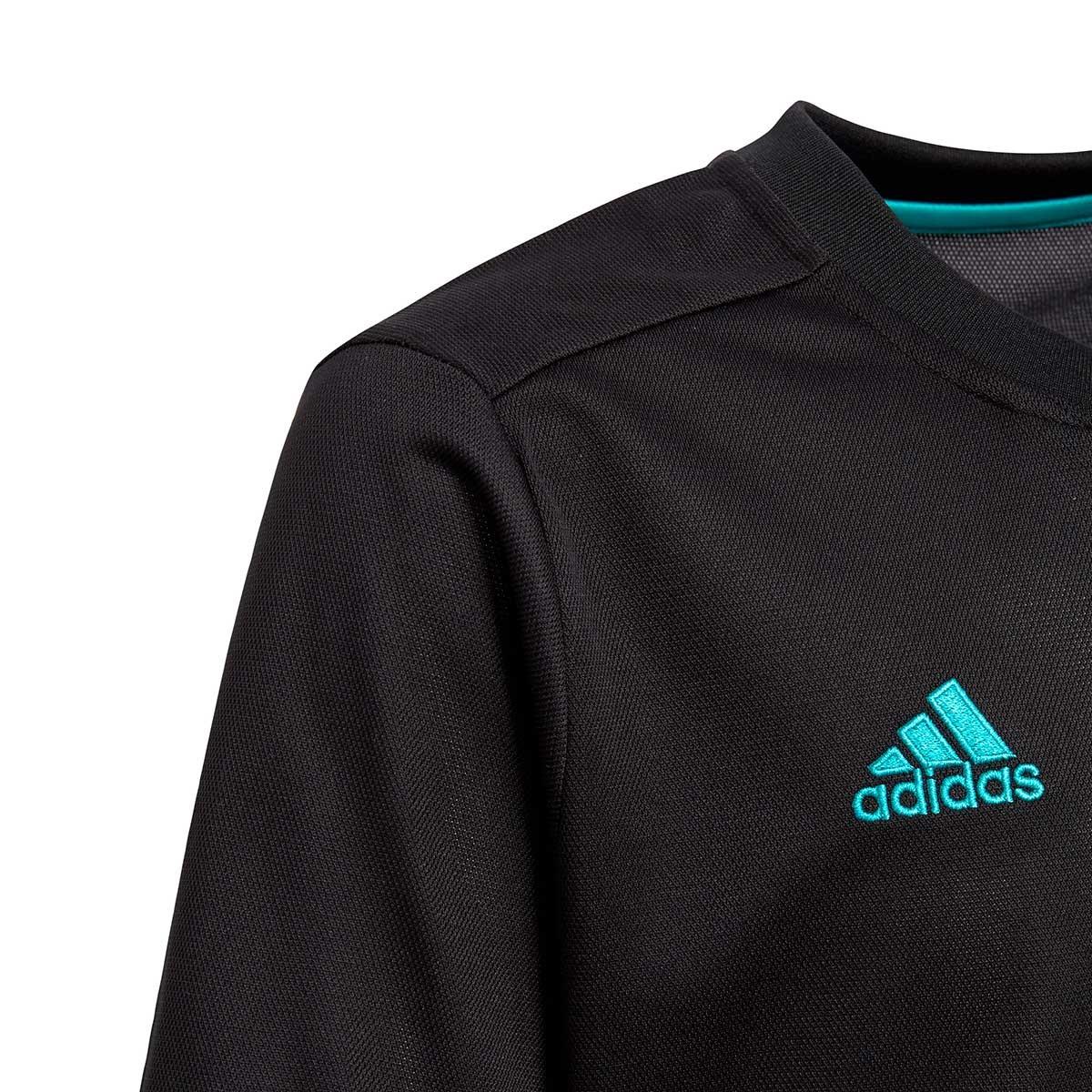 new style 45af1 02549 Camiseta Real Madrid Segunda Equipación 2017-2018 Niño Black-Aero reef