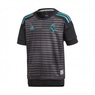 Camiseta  adidas Real Madrid Training 2017-2018 Niño Black-Granite