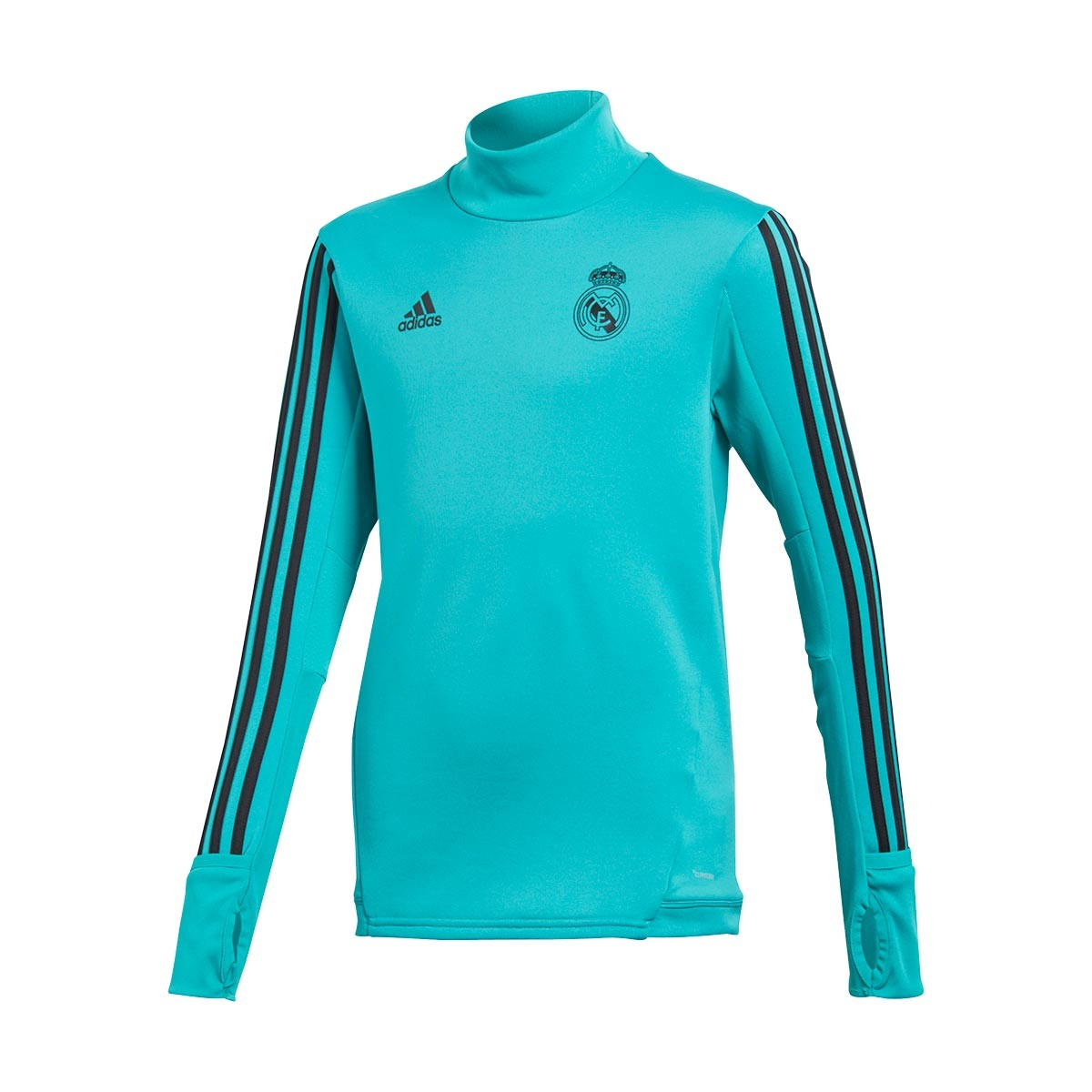 6ae7e0fa07 Sudadera adidas Real Madrid Training Top 2017-2018 Niño Aero reef-Black -  Soloporteros es ahora Fútbol Emotion