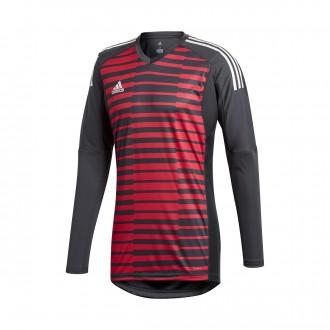 Camisola  adidas AdiPro 18 Goalkeeper Longsleeve Dark grey-Unity pink-White