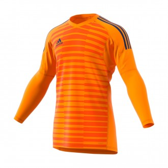 Maglia  adidas AdiPro 18 Goalkeeper Longsleeve Orange-Unity ink