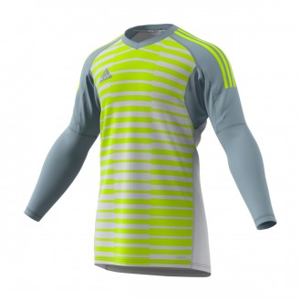Maillot adidas AdiPro 18 Goalkeeper Longsleeve Light grey-Semi solar yellow