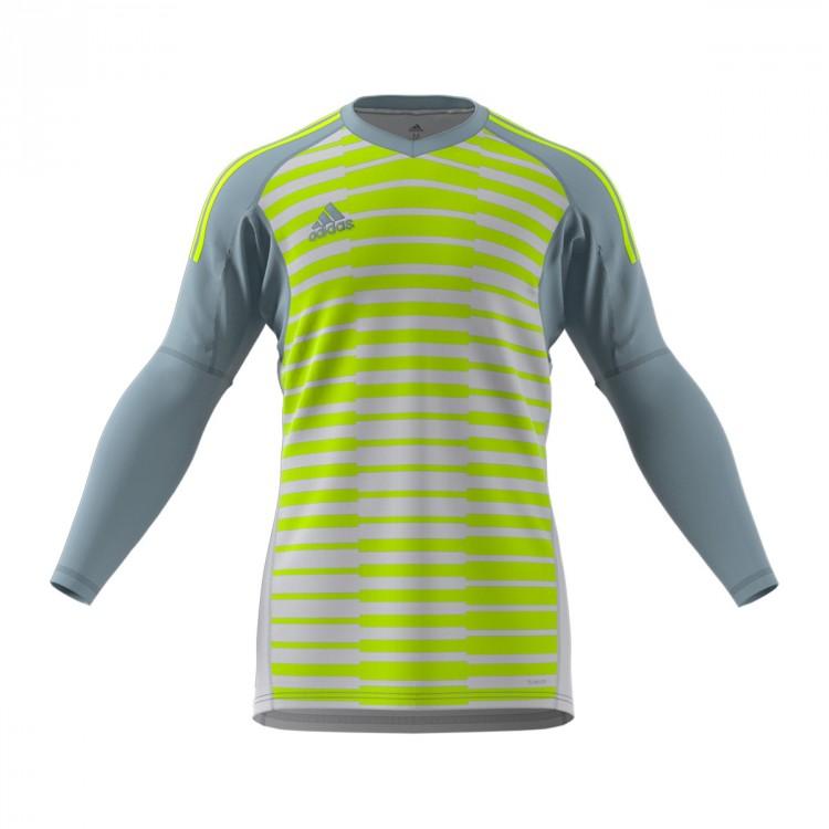 Jersey adidas AdiPro 18 Goalkeeper Longsleeve Light grey-Semi solar ... 56d2cc7e1