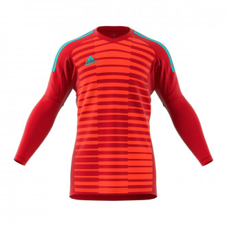 Camisola adidas AdiPro 18 Goalkeeper Longsleeve Power red-Semi solar red-Energy aqua